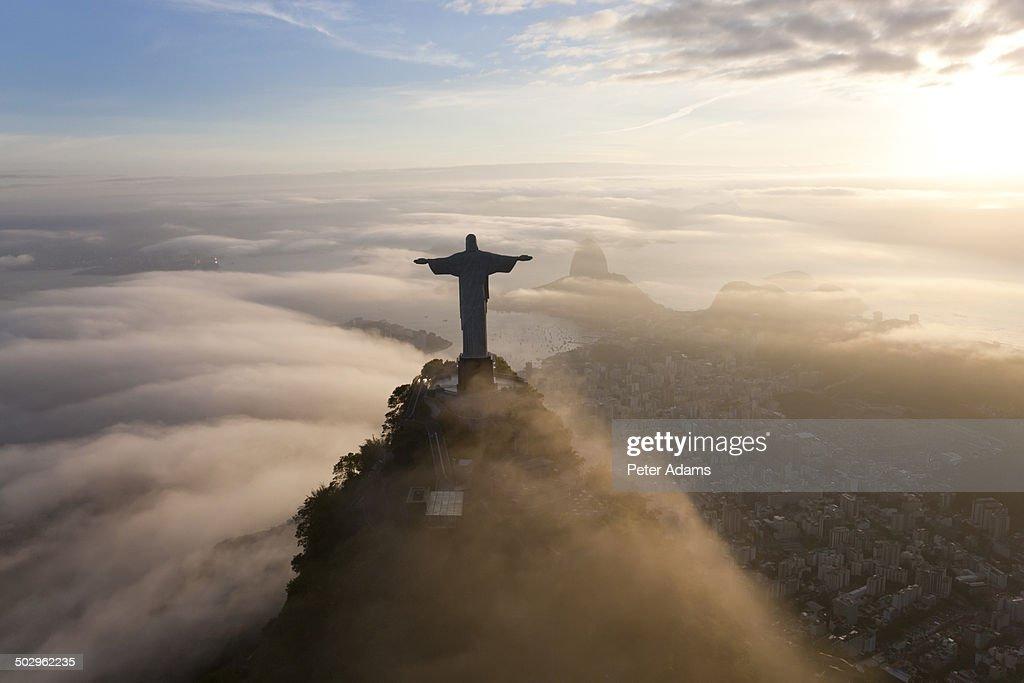 Aerial View of Christ the Redeemer, Rio de Janeiro