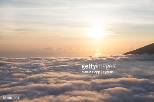 Aerial View Of Cloudscape During Sunset
