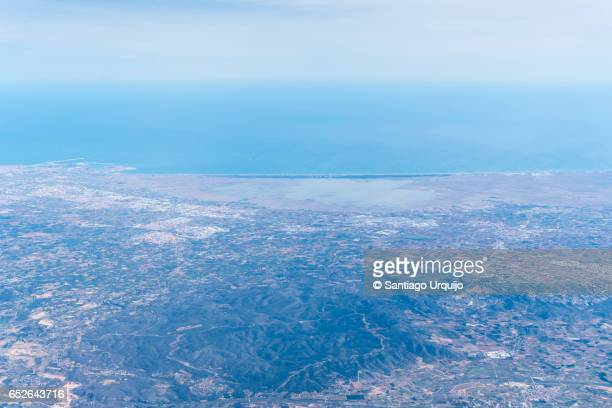 Aerial view of coast of Alicante