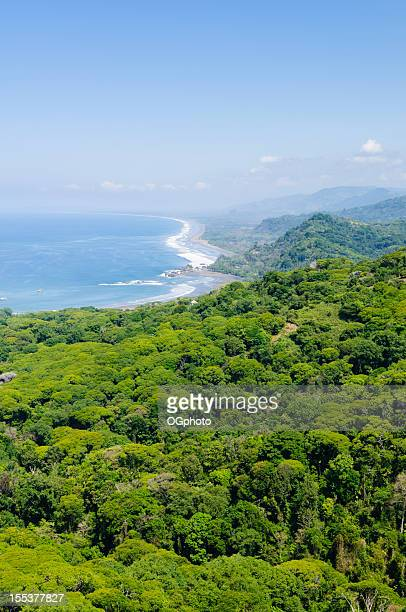 Aerial view of coastline near Dominical, Costa Rica