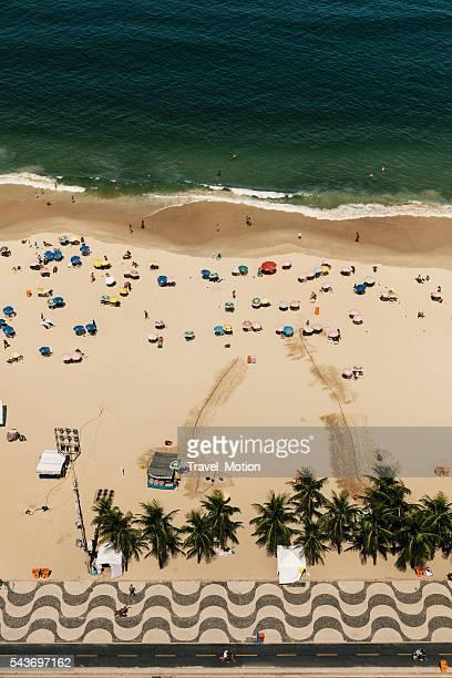 Aerial view of Copacabana Beach