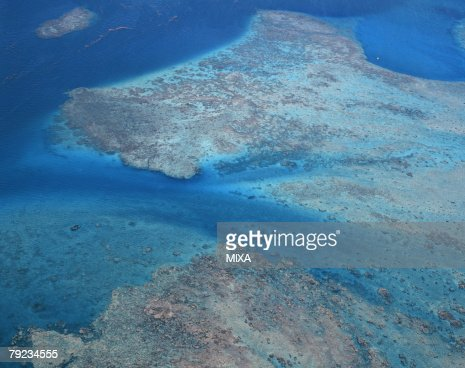 Aerial view of coral reef : Stock Photo