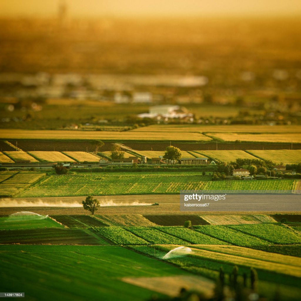 Aerial view of country landscape : Stock Photo