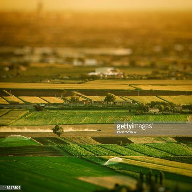 Aerial view of country landscape