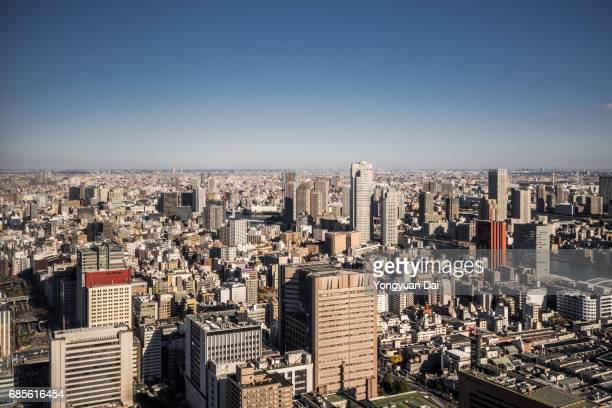 Aerial View of Crowded Buildings in Tokyo