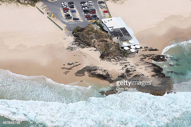 Aerial view of Currumbin Beach Vikings Surf Life Saving Club on October 22 2014 on the Gold Coast Australia