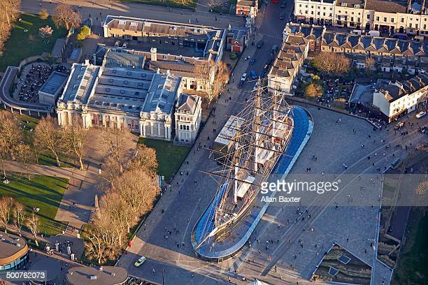 Aerial view of Cutty Sark