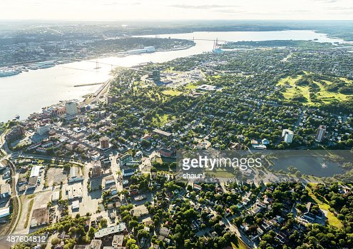 Aerial View of Dartmouth and Halifax