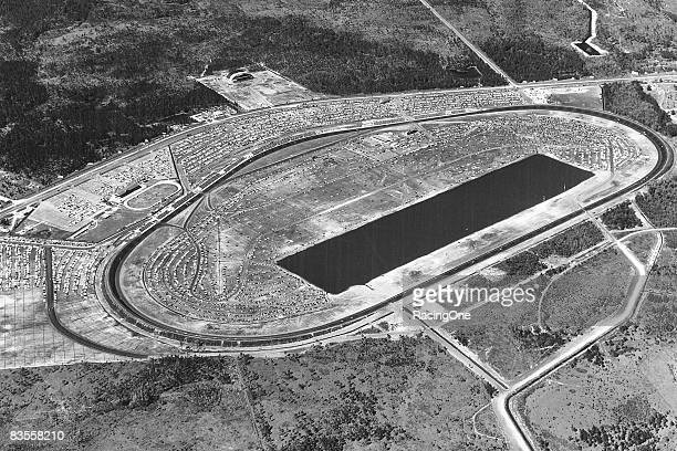 Aerial view of Daytona International Speedway in 1959