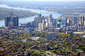 Aerial View of Detroit, Michigan USA
