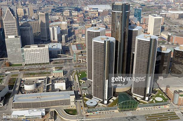 Aerial View of Detroit, Michigan, USA