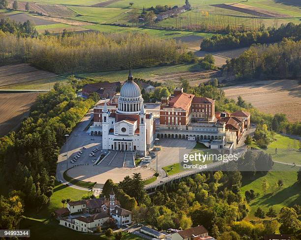 Aerial view of Don Bosco Temple, Turin, Italy