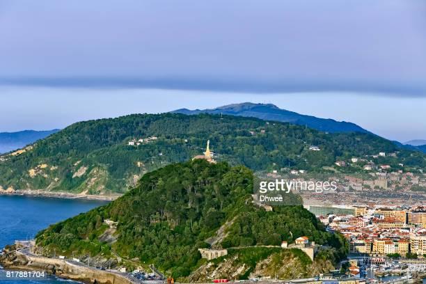 Aerial View Of Donostia San Sebastian