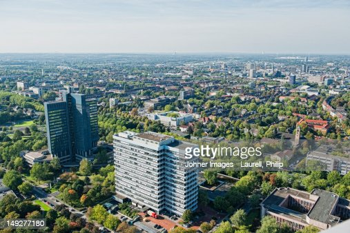 Aerial view of Dortmund, Germany : Stock Photo
