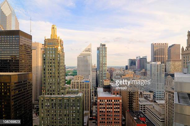 Aerial View of Downtown Chicago Buildings