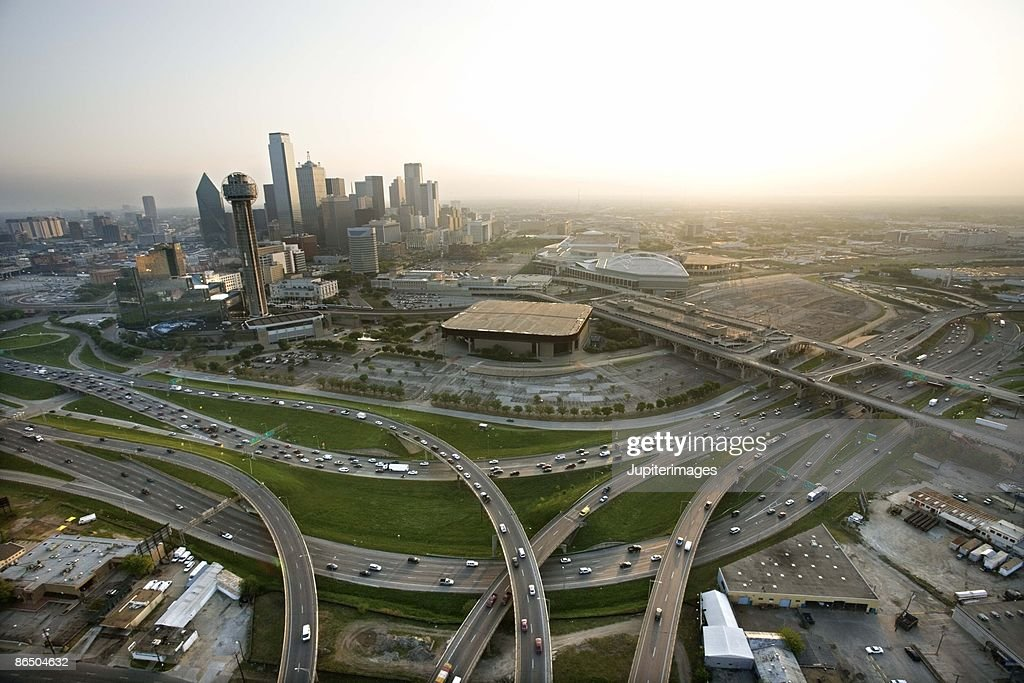 Aerial view of downtown Dallas, Texas