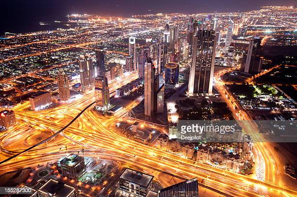 Aerial View of Downtown Dubai City Skyline UAE