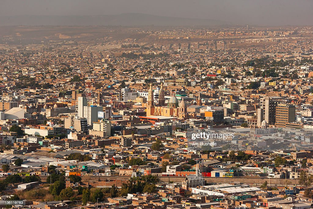 Aerial View of downtown Leon Mexico