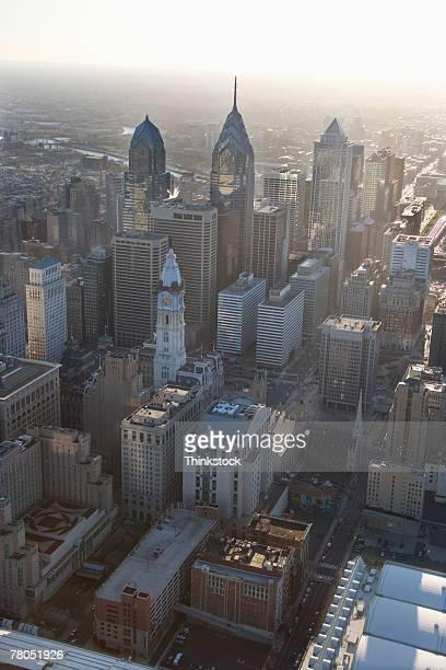 Aerial view of downtown Philadelphia, Pennsylvania