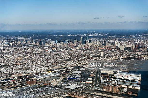 Aerial view of downtown Philadelphia