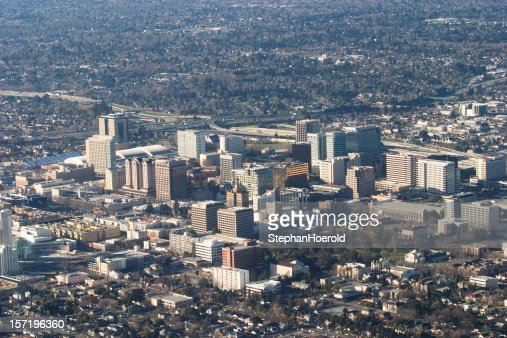 Aerial view of downtown San Jose