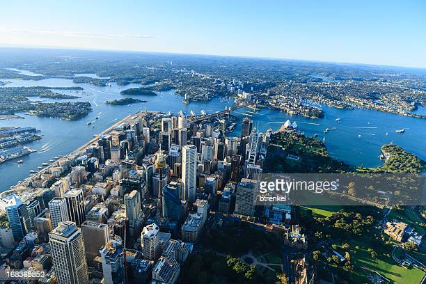 Aerial view of downtown Sydney, Australia