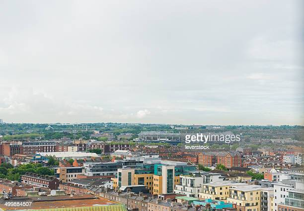 aerial view of Dublin City Centre