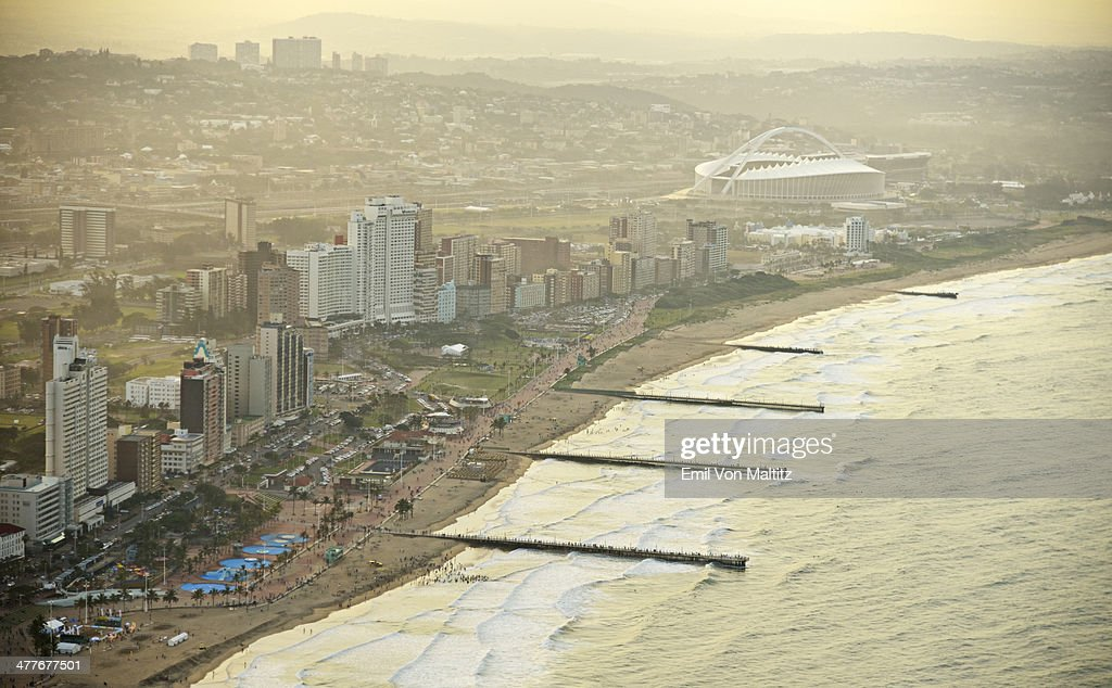 Aerial view of Durban's Golden Mile