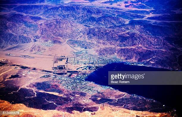 Aerial view of Eilat & Aqaba