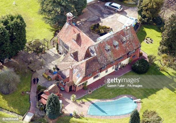 Aerial view of Elderden Farm in Staplehurst Kent Thursday March 2 2006 as police investigating the 53 million Securitas robbery in Tonbridge...