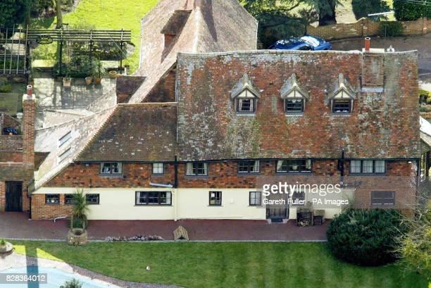 Aerial view of Elderden Farm in Staplehurst Kent Thursday March 2 2006 where police investigating the 53 million Securitas robbery in Tonbridge...