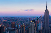 Aerial view of Empire State and Midtown Manhattan
