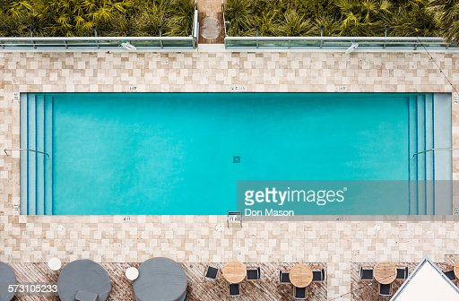 aerial view of empty swimming pool stock photo getty images - Rectangle Pool Aerial View
