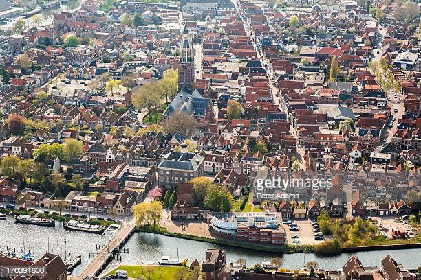 Aerial view of Enkhuizen, Netherlands, Holland