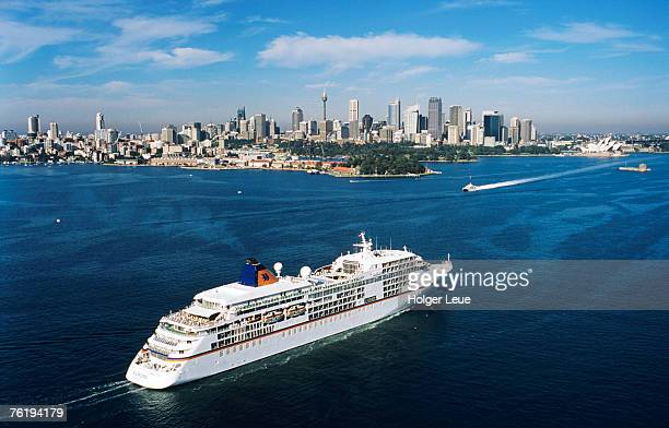 Aerial view of MS Europa, Sydney, New South Wales, Australia, Australasia