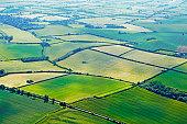 Aerial view of farmland in Buckinghamshire