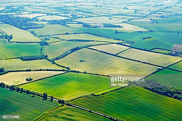 Aerial view of farmland in Buckinghamshire