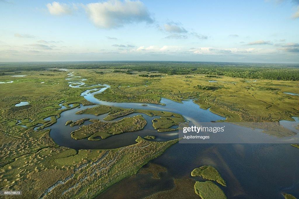 Aerial view of Florida Everglades
