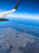 Aerial view of the ocean and city in Cape Coral, Florida