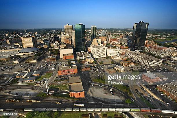 Aerial view of Fort Worth, Texas