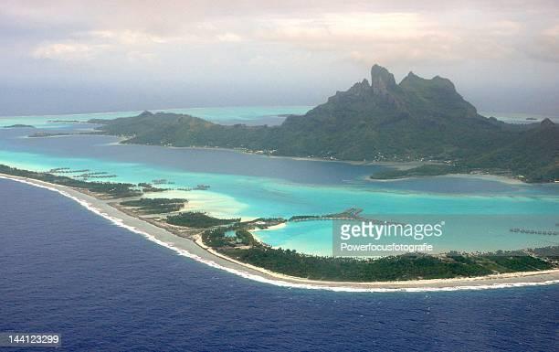 Aerial view of French Polynesia, Bora Bora Island