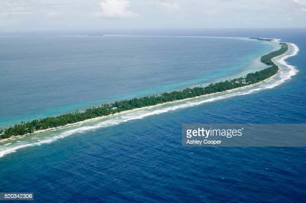 Aerial View of Funafuti Island