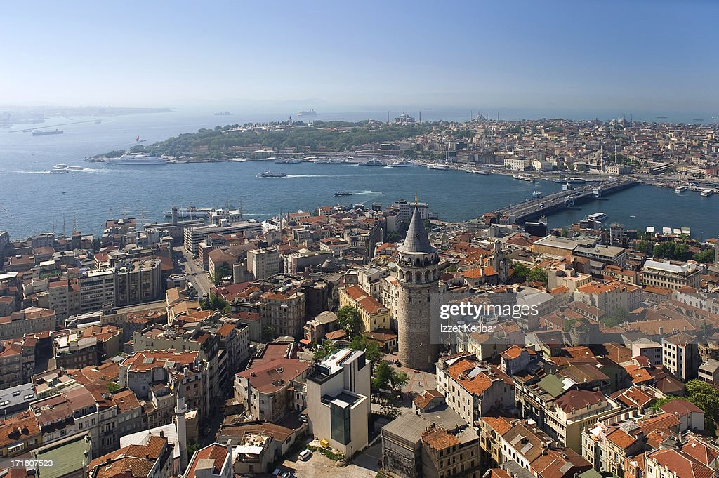 Aerial view of Galata and Historical Peninsula