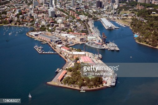 Aerial View Of Garden Island Sydney New South Wales