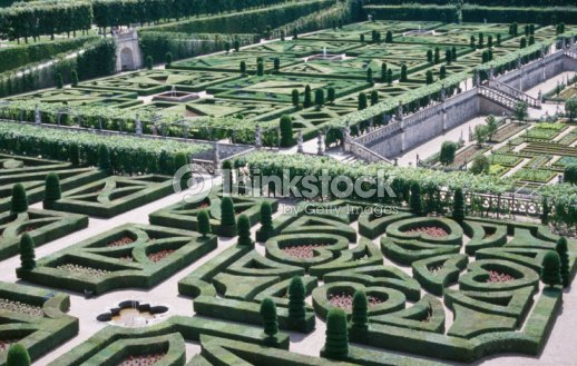 Aerial View Of Garden Landscaping Stock Photo | Thinkstock on