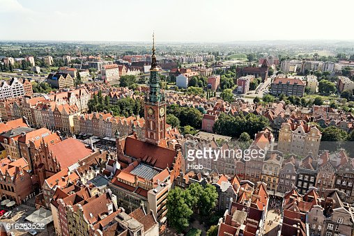 Aerial view of Gdańsk : Foto de stock