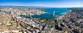 Aerial view of  Geneva city in Switzerland