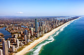 Aerial view of Gold Coast, QLD, Australia