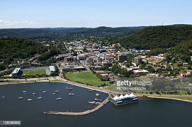 Aerial view of Gosford, New South Wales, Australia