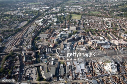 Aerial view of Guildford City Centre